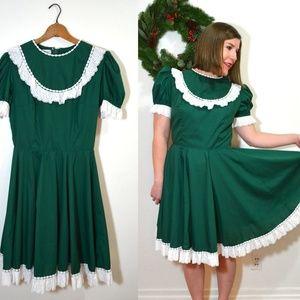 fa7e0aac5dd9 Vintage Dresses | Hunter Green Christmas Square Dance Dress | Poshmark